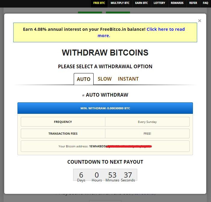 вывод денег на freebitcoin